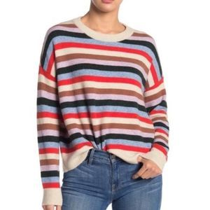 MADEWELL Striped James Pullover Sweater Size S